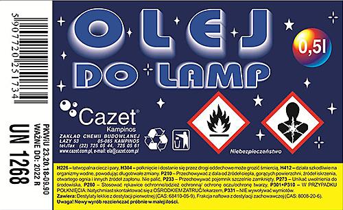 OLEJ  DO  LAMP PKWiU 23.20.18-09.90