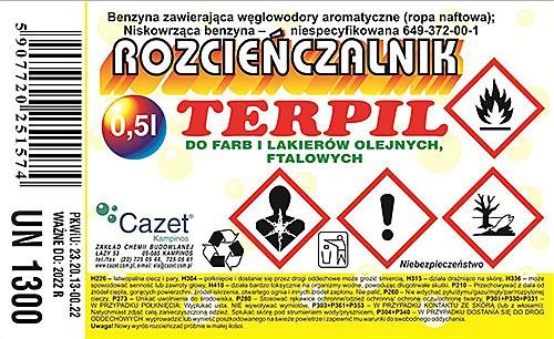 "ROZCIEŃCZALNIK ""TERPIL"" PKWiU 24.30.22-79.12"