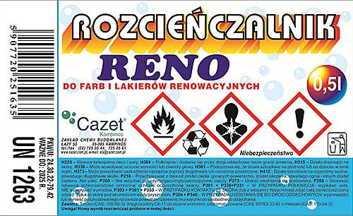 """ROZCIEŃCZALNIK """"RENO"""" PKWiU 24.30.22-79.42"""